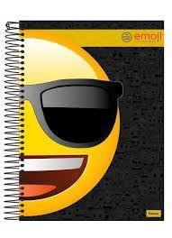Caderno Foroni 10X1 Emoji Meio Rosto com Óculos 200 folhas
