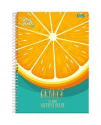 Caderno Foroni 10X1 Fruit Lovers Orange 200fls