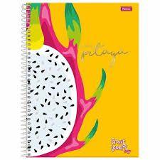 Caderno Foroni 10X1 Fruit Lovers Pitaya 200fls