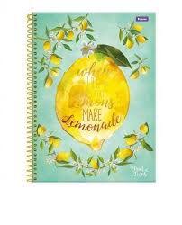 Caderno Foroni 10X1 Fruit Lovers Lemons 200fls