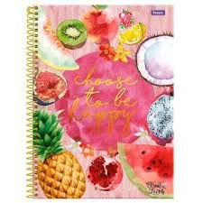 Caderno Foroni 10X1 Fruit Lovers Choose To Be Happy 200fls