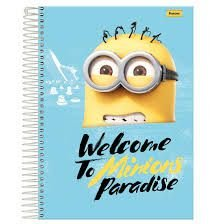 Caderno Foroni 10X1 Minnions Welcome Paradise 200 folhas