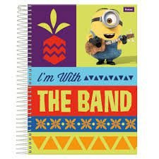 Caderno Foroni 10X1 Minnions I'm With The Band 200 folhas