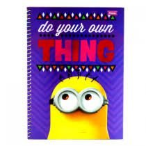 Caderno Foroni 10X1 Minnions Do Your Own Thing 200 folhas