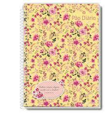 Caderno Credeal 10X1 Pão Diário Floral Fundo Amarelo 200fls