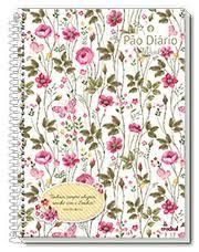 Caderno Credeal 10X1 Pão Diário Floral Fundo Branco 200fls