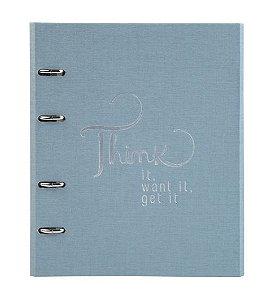 Caderno Fichário Ótima Cotton Ultra FC Azul