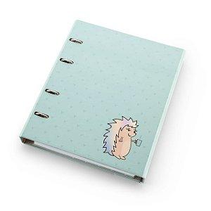 Caderno Fichário Ótima Ultra Riccio verde