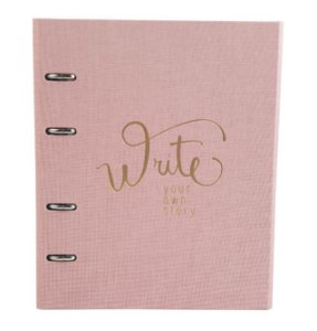 Caderno Fichário Ótima Ultra Cotton Rosa