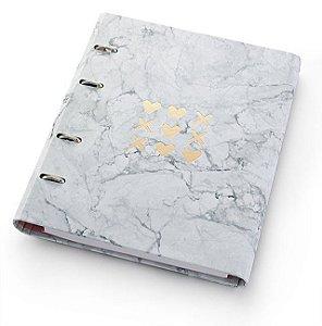 Caderno Fichário Ótima Pink Stone Ultra Mármore