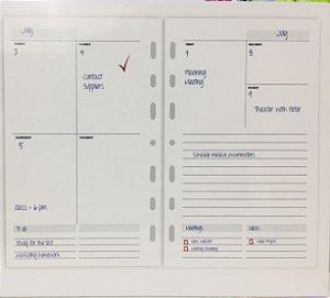 Refil para Planner Ótima Permanente Ultra My Week