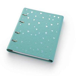 Caderno Fichário Ótima Romantic Ultra Verde Água