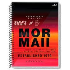 Caderno Credeal 10X1 Mormaii Established 1979 200 folhas