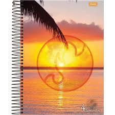 Caderno Foroni 10X1 4 Elementos Amanhecer 200 folhas