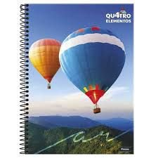 Caderno Foroni 10X1 4 Elementos Balões 200 folhas