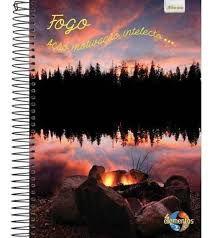 Caderno Foroni 10X1 4 Elementos Fogo, Ação, Motivação 200fls