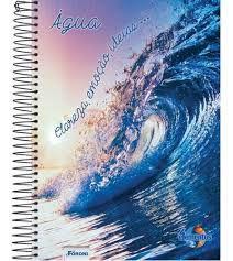 Caderno Foroni 10X1 4 Elementos Água, Clareza, Emoção 200fls