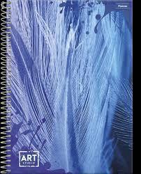 Caderno Foroni 10X1 Art Studio Azul 200 folhas