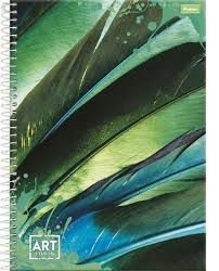 Caderno Foroni 10X1 Art Studio Verde 200 folhas