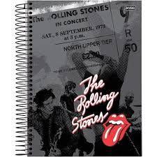 Caderno Jandaia 10X1 Rolling Stones North Upper Tier 200 folhas