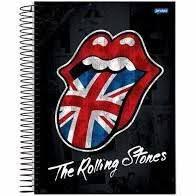 Caderno Jandaia 10X1 Rolling Stones Língua Bandeira 200 folhas