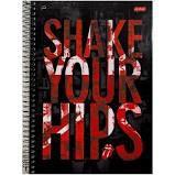 Caderno Jandaia 10X1 Rolling Stones Shake Your Hips 200 folhas