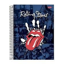 Caderno Jandaia 10X1 Rolling Stones Língua Vermelha 200 folhas