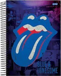 Caderno Jandaia 10X1 Rolling Stones Língua Azul 200 folhas