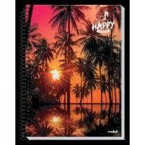Caderno Credeal 10X1 Happy Coqueiros 200 folhas