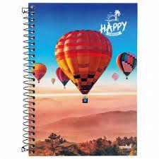 Caderno Credeal 10X1 Happy Balões 200 folhas