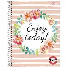 Caderno Tilibra 10X1 Pepper Enjoy Today! 160 folhas