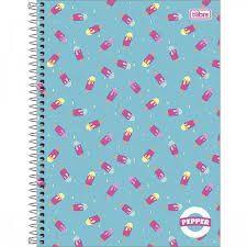 Caderno Tilibra 10X1 Pepper Picolé 160 folhas