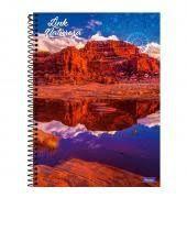 Caderno Foroni 10X1 Link Natureza Lago e Rochedo 200 folhas