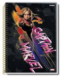 Caderno Credeal 10X1 Captain Marvel Capitã 160 folhas