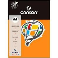 Papel A4 180G Canson Cenoura 10 folhas