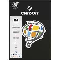 Papel A4 180G Canson Preto 10 folhas