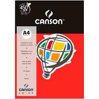 Papel A4 180G Canson Vermelho 10 folhas