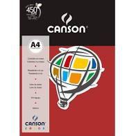Papel A4 180G Canson Vermelho Escuro 10 folhas