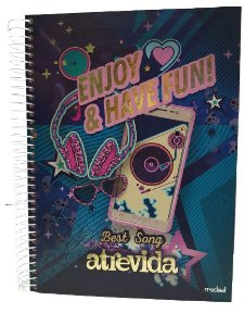 Caderno Credeal 12X1 Atrevida Enjoy & Have Fun! 240 folhas