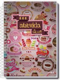Caderno Credeal 12X1 Atrevida Sweets 240 folhas
