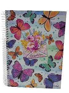 Caderno Credeal 10X1 Purpurina 200 folhas