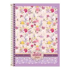 Caderno Tilibra 10X1 Jolie Classic Vaso com Flores 200fls