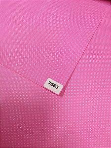 Papel Dupla Face Rosa/Bolinha (Poa) Branca VMP 48X66cm