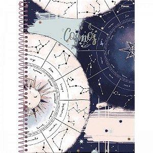 Caderno Foroni 15X1 Cosmos Signos Mapa Astral 240 folhas