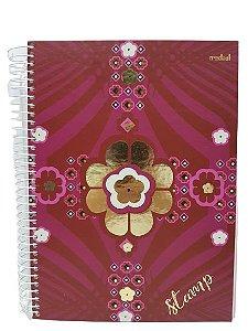 Caderno Credeal 10X1 Stamp 200 folhas