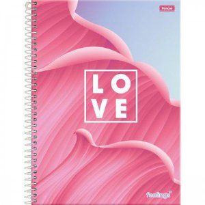 Caderno Foroni 10X1 Feelings Love 160 folhas