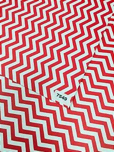 Papel Dupla Face Vermelho/Zig Zag VMP 48X66cm