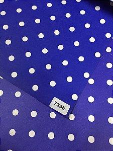 Papel Dupla Face Azul Escuro / Bolas Brancas VMP 48X66cm