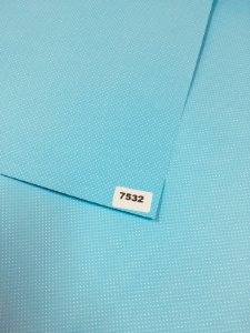Papel Dupla Face Azul Claro/Bolinha (Poa) Branco VMP 48X66cm