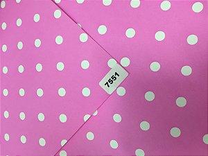 Papel Dupla Face Rosa/Bola Branca VMP 48X66cm